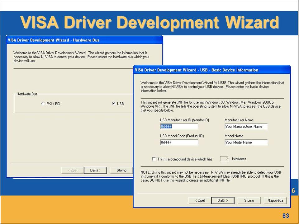 83 Přednáška č.6 VISA Driver Development Wizard