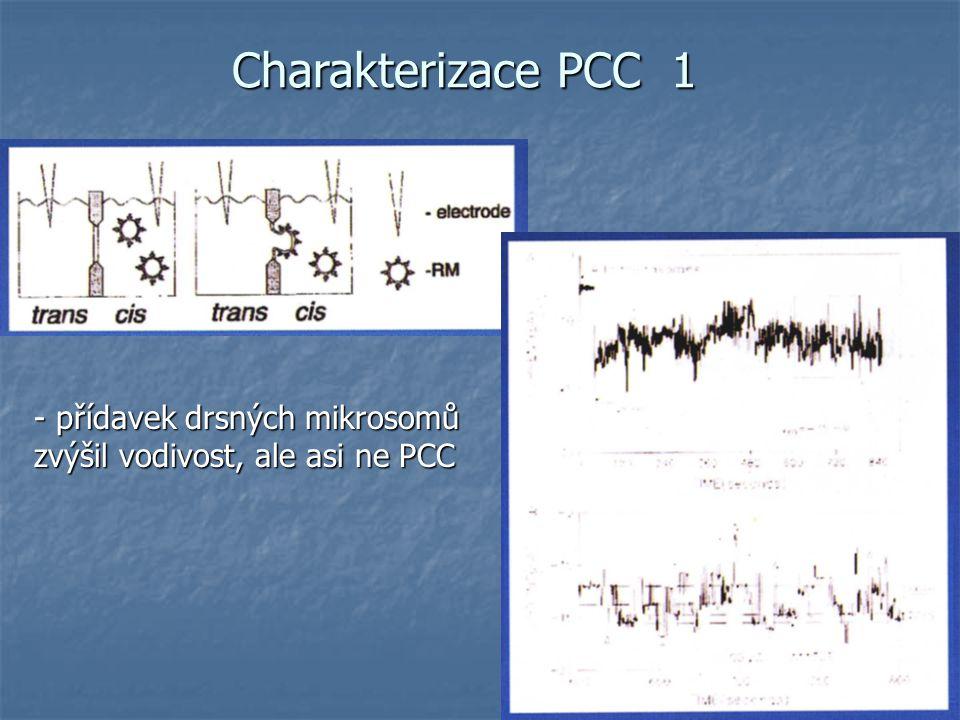 Charakterizace PCC 1 - přídavek drsných mikrosomů zvýšil vodivost, ale asi ne PCC