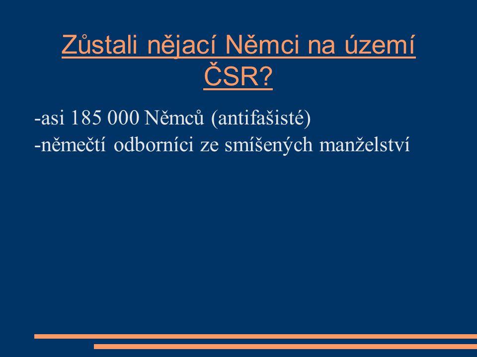 Maďarská menšina odsun se neuskutečnil únor 1946: čs.- maďarská dohoda o výměně obyvatel (nesplnila očekávání) =>napjaté vztahy