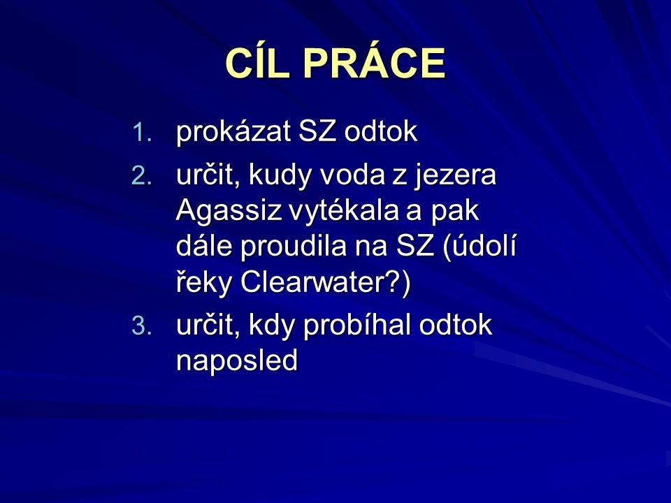 CÍL PRÁCE 1. prokázat SZ odtok 2.