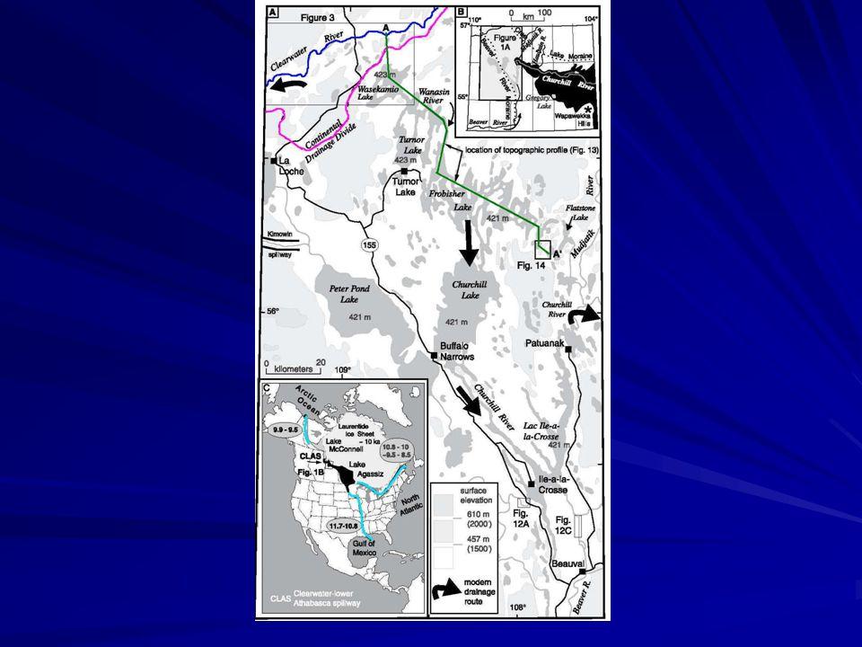 Podle pohybů zemské kůry se měnil směr odtoku a s ním i výška hladiny jezera.