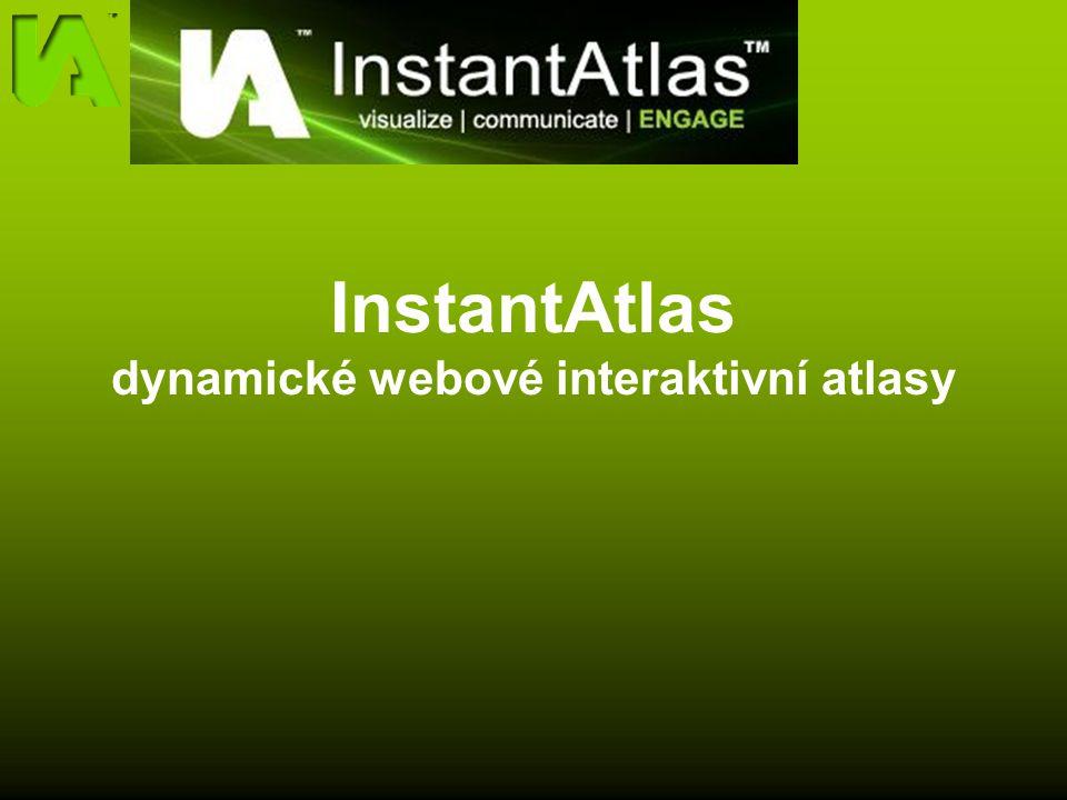 InstantAtlas dynamické webové interaktivní atlasy