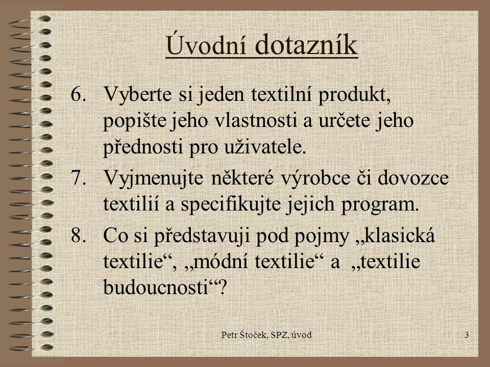 Petr Štoček, SPZ, úvod4 Ing.