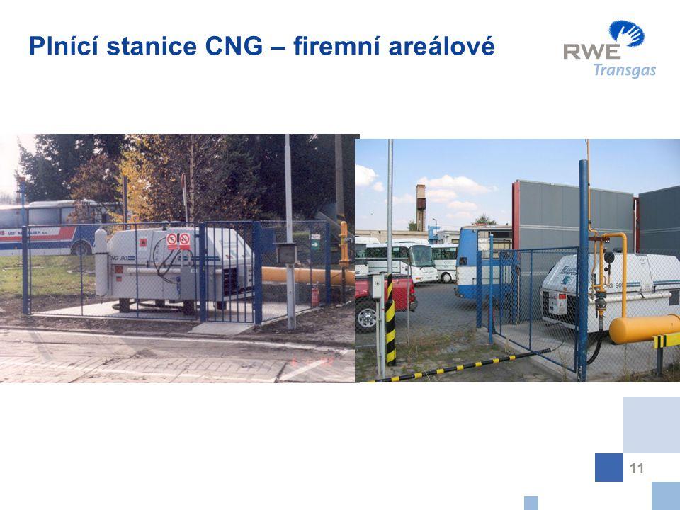 11 Plnící stanice CNG – firemní areálové