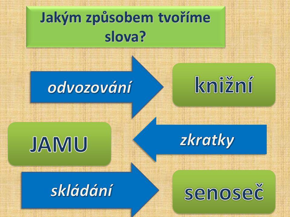 Jakým způsobem tvoříme slova?