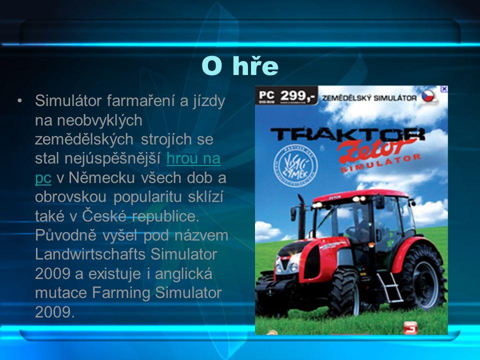 O hře Simulátor farmaření a jízdy na neobvyklých zemědělských strojích se stal nejúspěšnější hrou na pc v Německu všech dob a obrovskou popularitu sklízí také v České republice.