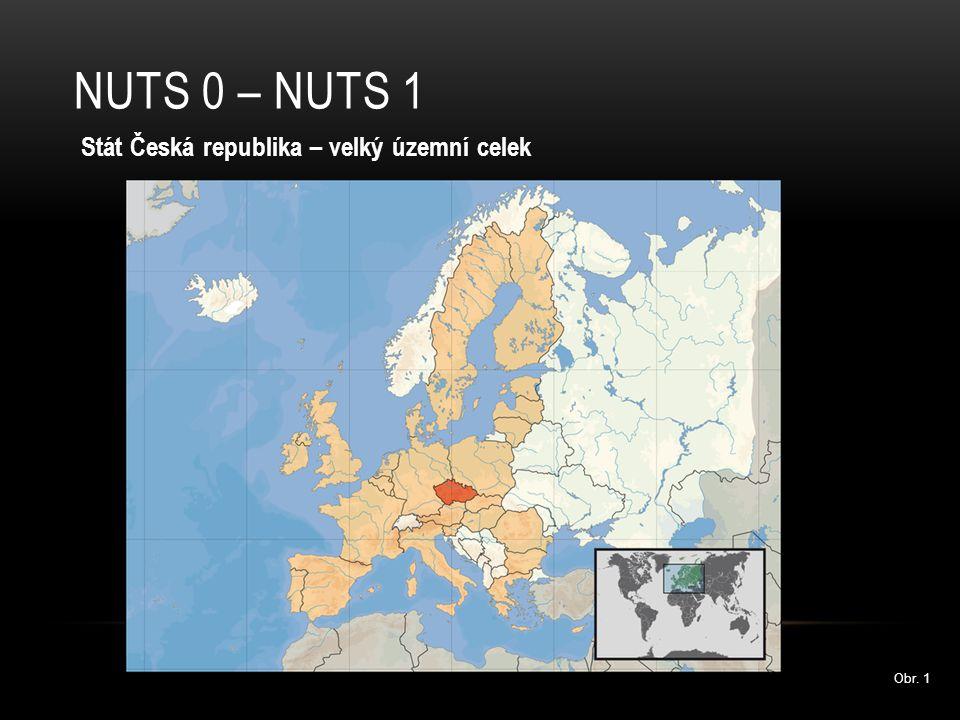 NUTS 2 Regiony S velkým počtem obyvatel (min.