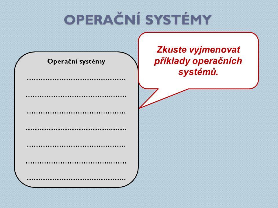 OPERAČNÍ SYSTÉMY Operační systémy …………………………….……… ………………………………..…… …………………………….……… ………………………………..…… …………………………….……… ………………………………..…… ……………………………………. Z