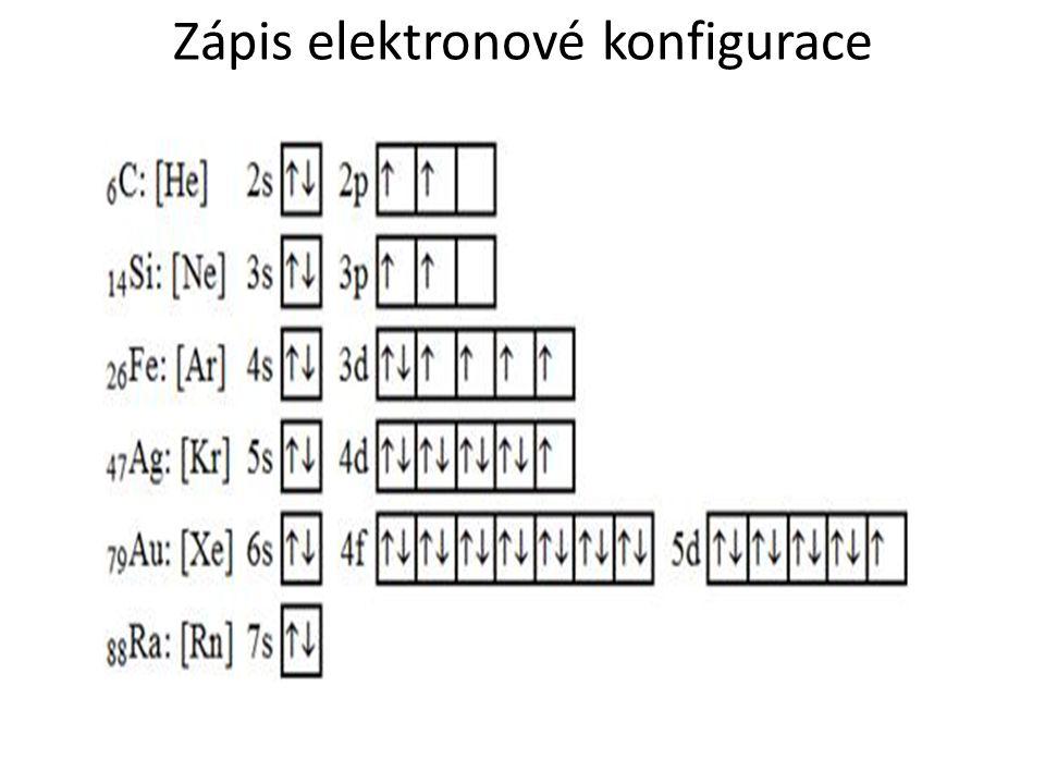 Zápis elektronové konfigurace