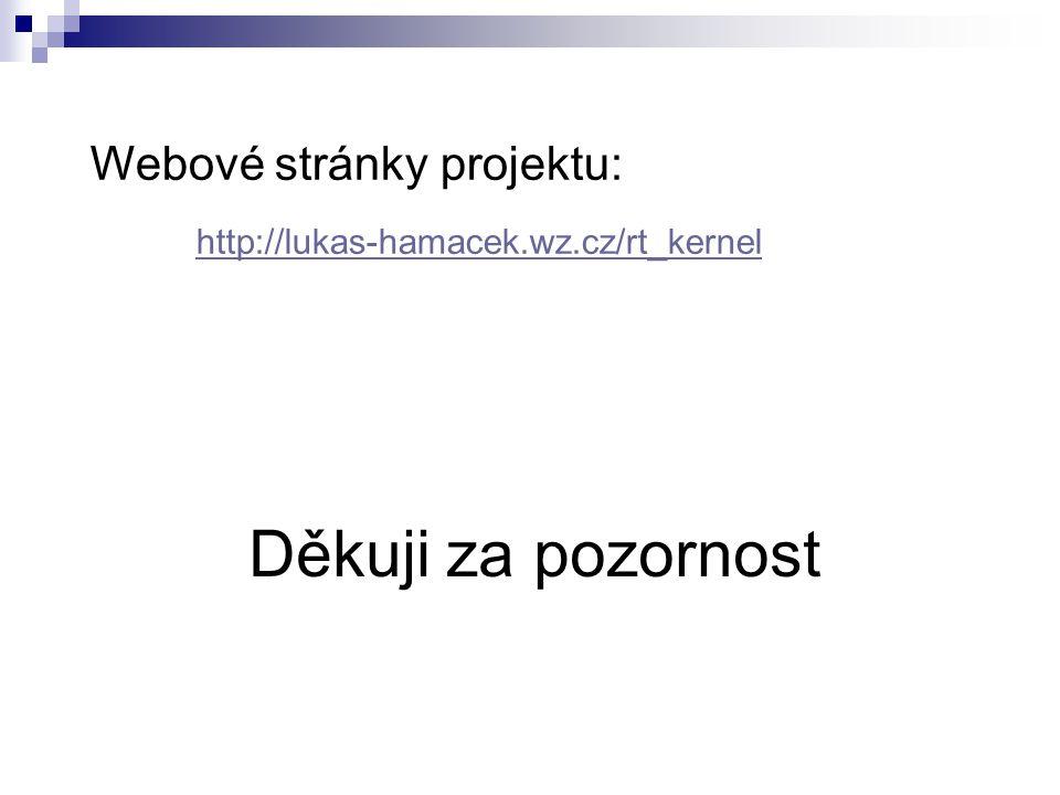 Děkuji za pozornost Webové stránky projektu: http://lukas-hamacek.wz.cz/rt_kernel http://lukas-hamacek.wz.cz/rt_kernel