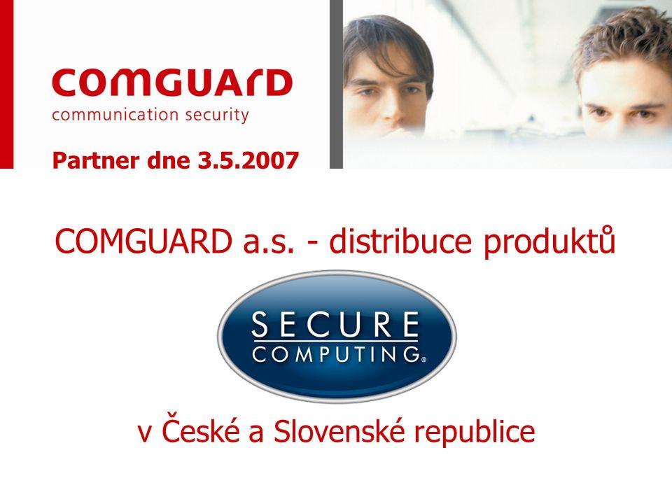 Partner dne 3.5.2007 COMGUARD a.s. - distribuce produktů v České a Slovenské republice