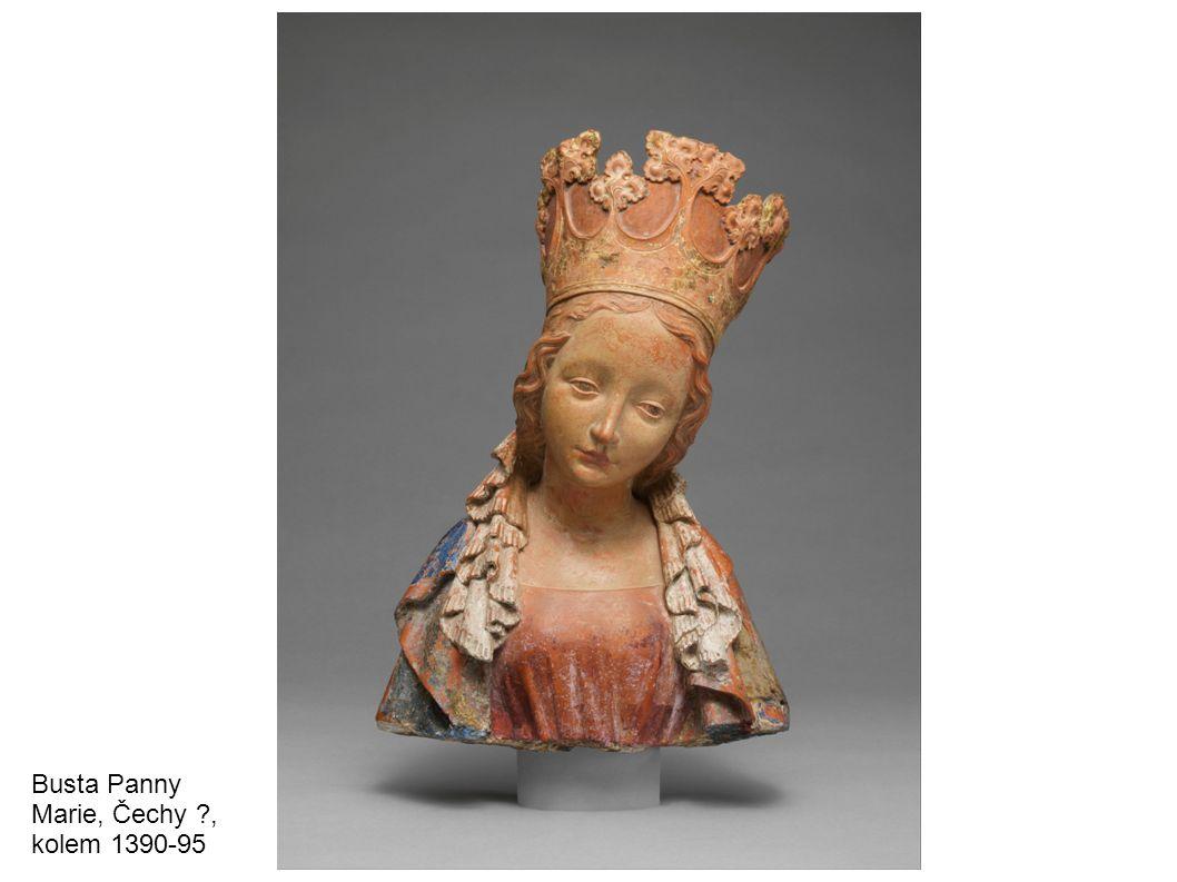 Madonka z pálené hlíny, pol.14. – 15. stol. Panna Marie, pálená hlína, kol.