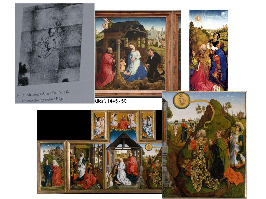 "Rogier van der Weyden, ""Middleburg Altar"", 1445 - 50"
