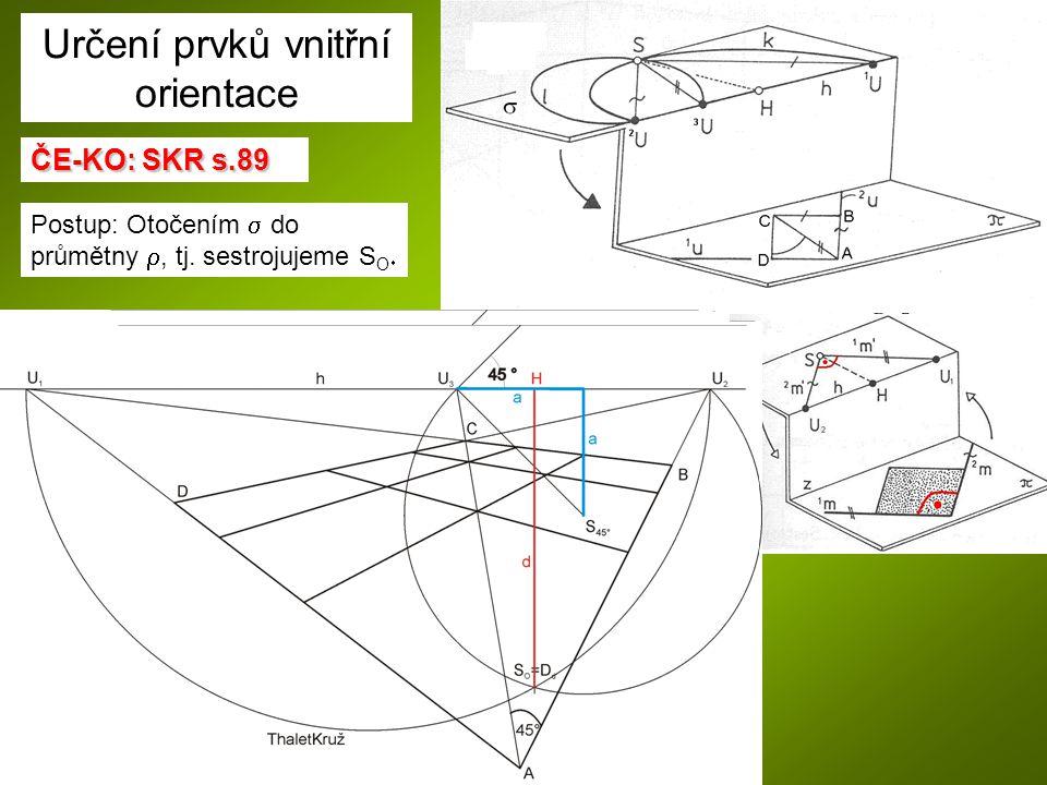 ČE-KO: SKR s.90: ČE-KO: SKR s.90: Na vodorovném snímku je obraz obdélníkové desky ABCD v horizontální rovině.