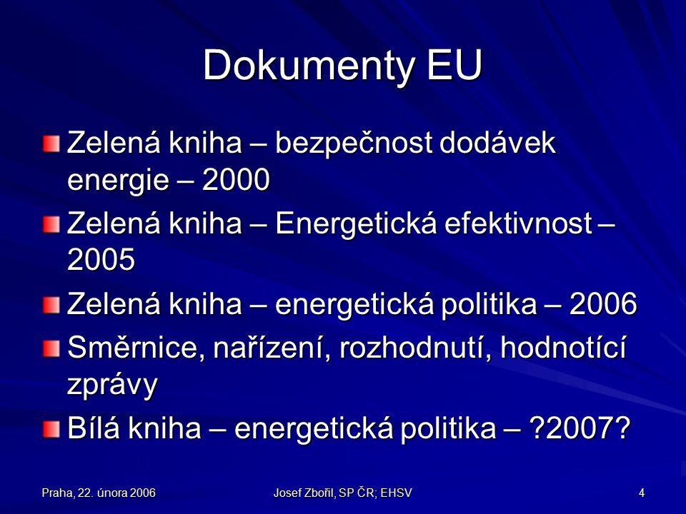 Praha, 22.února 2006 Josef Zbořil, SP ČR; EHSV 25 Co na domácím hřišti.