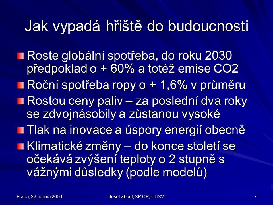 Praha, 22.února 2006 Josef Zbořil, SP ČR; EHSV 28 Co na domácím hřišti.