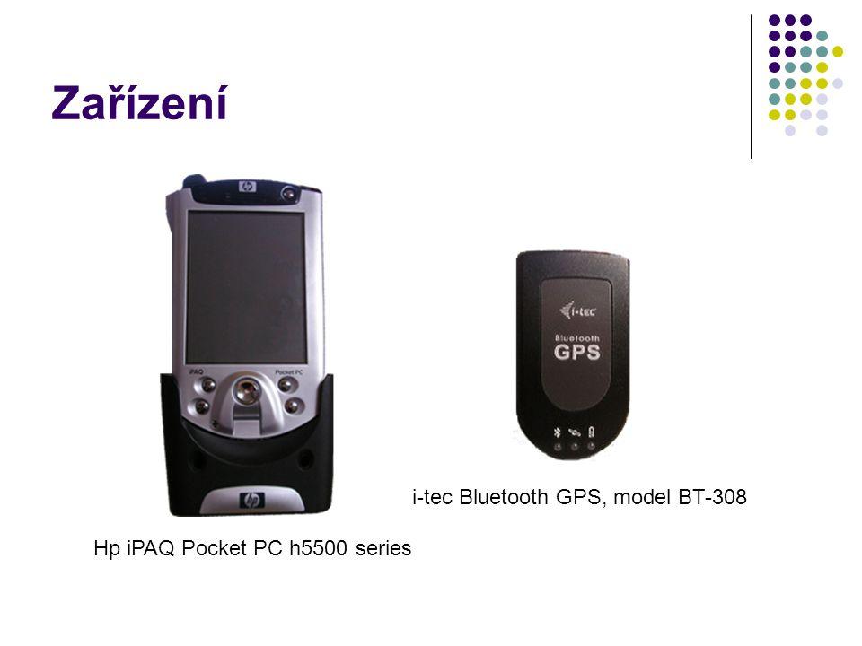 Zařízení Hp iPAQ Pocket PC h5500 series i-tec Bluetooth GPS, model BT-308