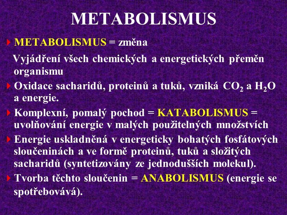 ENERGETICKÝ METABOLISMUS RQ proteinů je asi 0,82 (složitý výpočet - N!)  RQ celkem = 0,82  RQ sacharidů = 1,00  RQ tuků = 0,70  RQ proteinů = 0,82