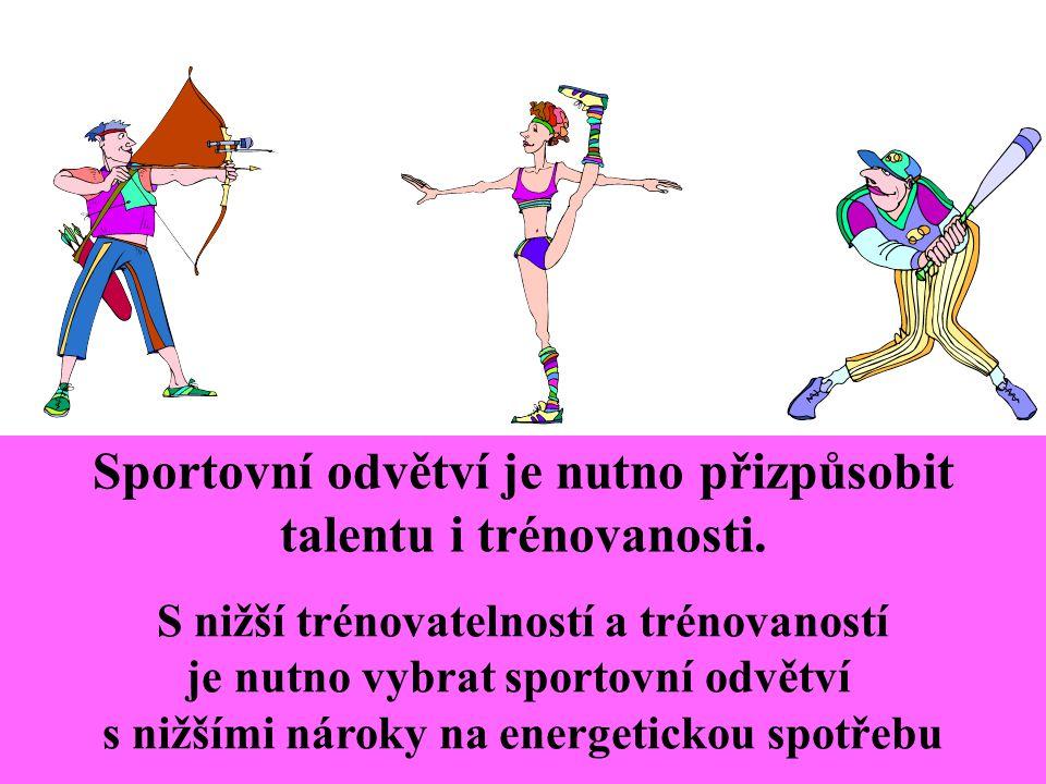 Jestliže kvalitní sportovní výkon vyžaduje určitou energetickou spotřebu (např.