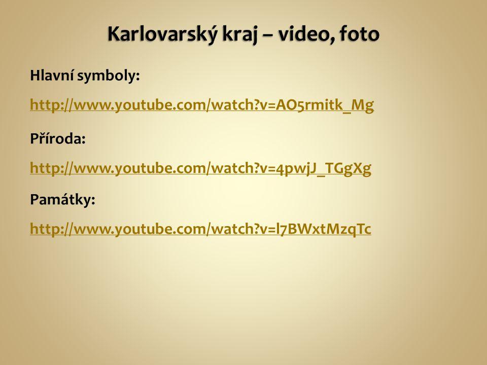 Hlavní symboly: http://www.youtube.com/watch v=AO5rmitk_Mg http://www.youtube.com/watch v=AO5rmitk_Mg Příroda: http://www.youtube.com/watch v=4pwjJ_TGgXg Památky: http://www.youtube.com/watch v=l7BWxtMzqTc