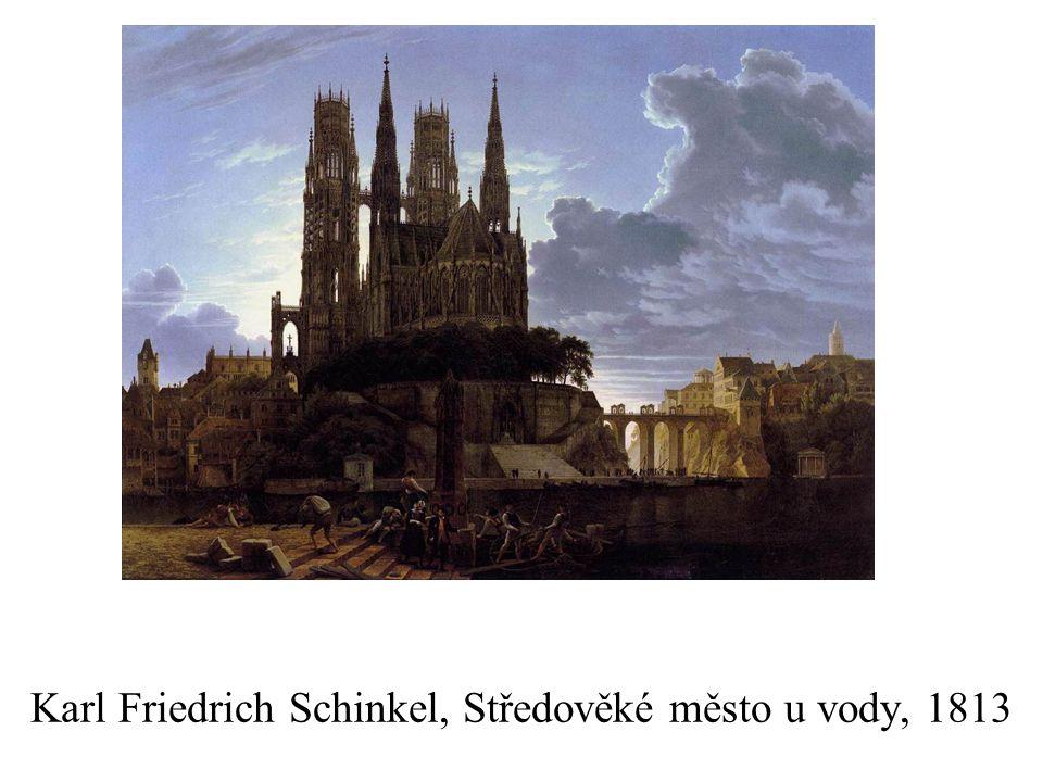Karl Friedrich Schinkel, Středověké město u vody, 1813