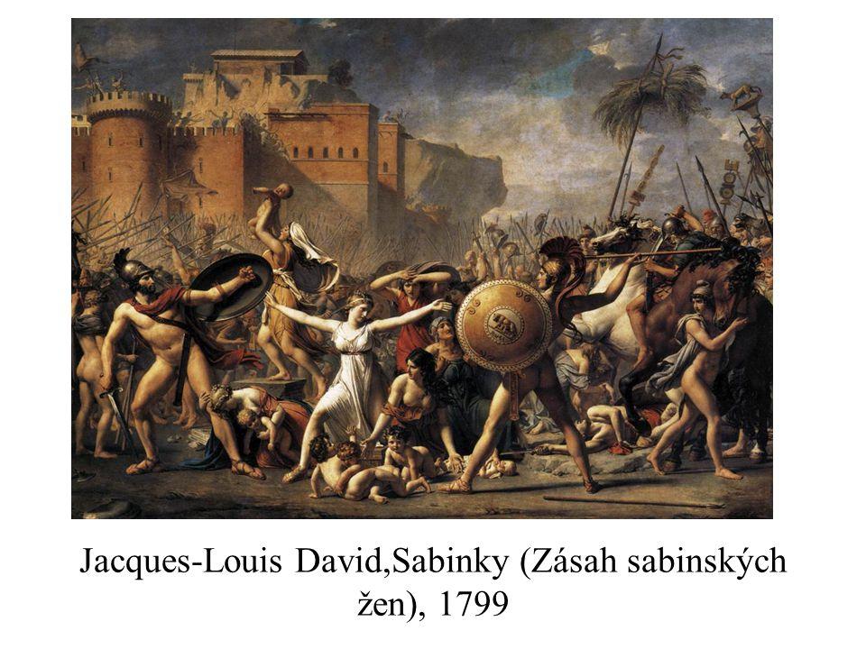 Jacques-Louis David,Sabinky (Zásah sabinských žen), 1799