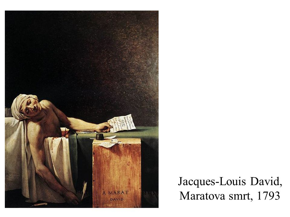 Jacques-Louis David, Maratova smrt, 1793