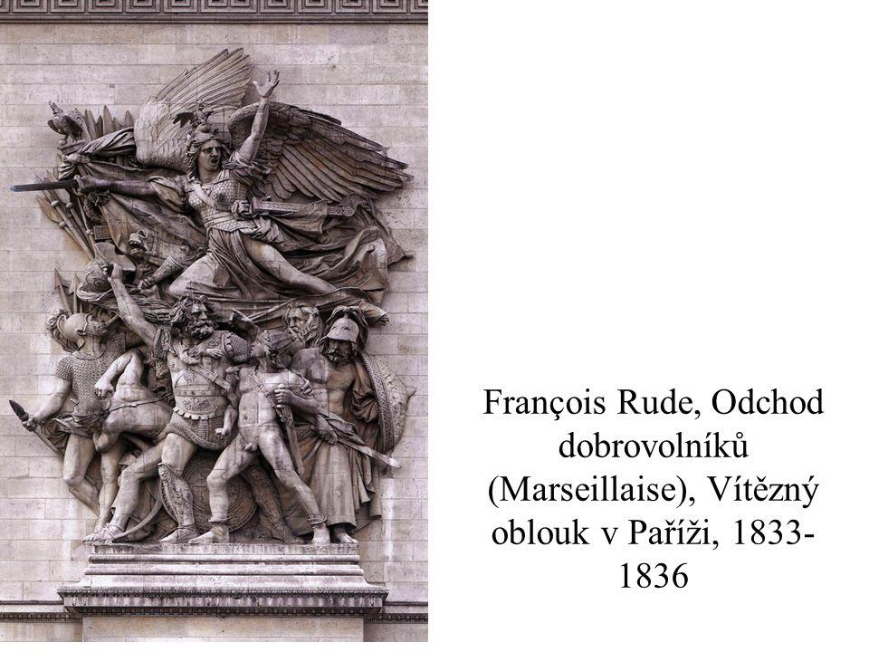 François Rude, Odchod dobrovolníků (Marseillaise), Vítězný oblouk v Paříži, 1833- 1836