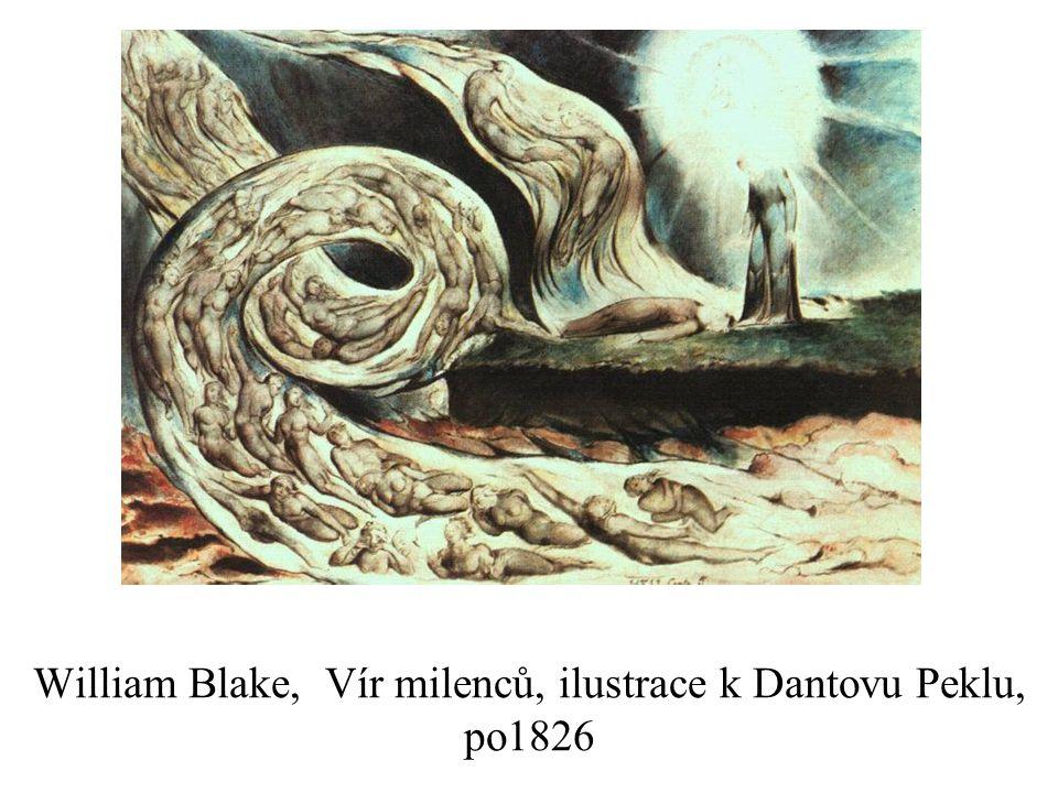 William Blake, Vír milenců, ilustrace k Dantovu Peklu, po1826