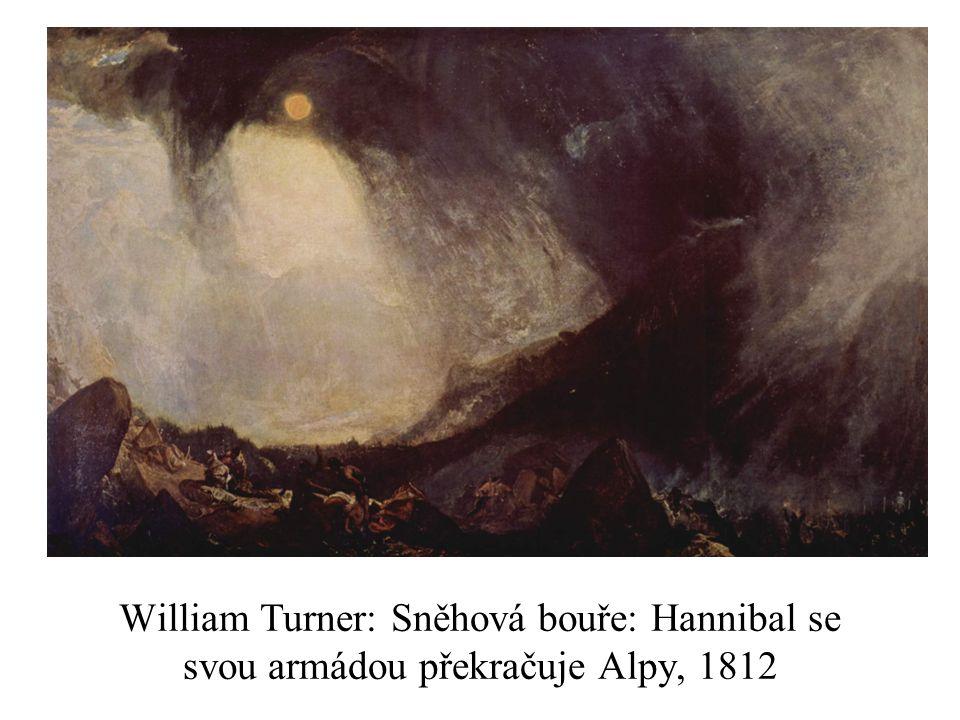 William Turner: Sněhová bouře: Hannibal se svou armádou překračuje Alpy, 1812