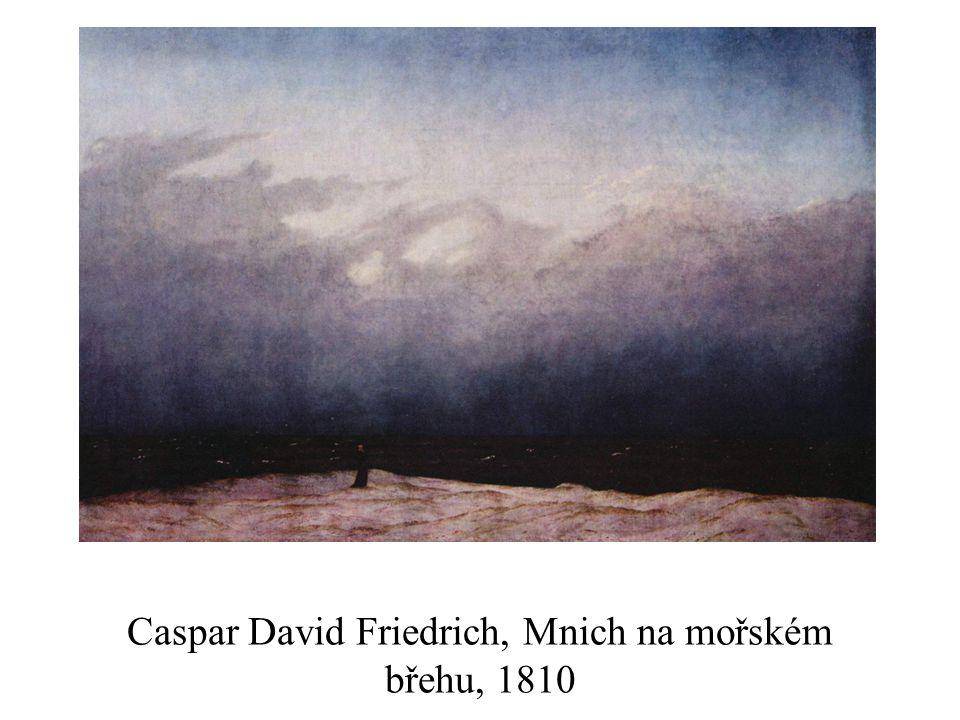 Caspar David Friedrich, Mnich na mořském břehu, 1810