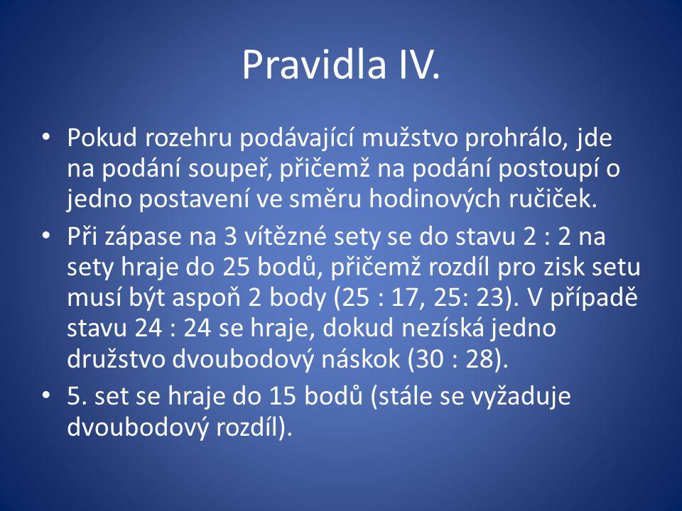 Pravidla IV.