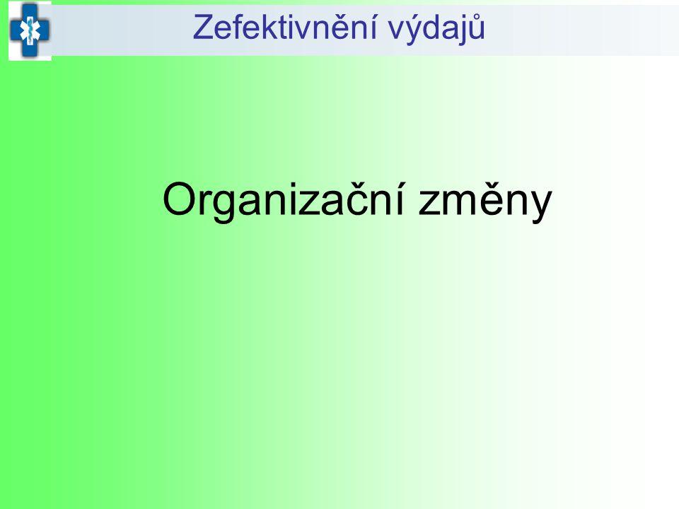 Zefektivnění výdajů Organizační změny