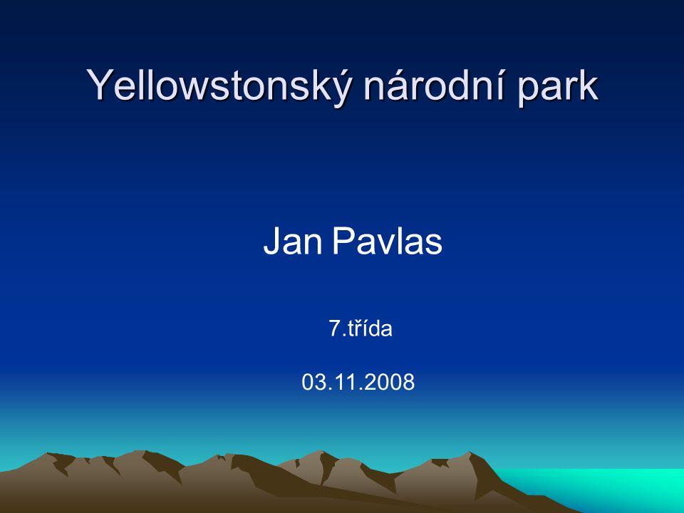 Yellowstonský národní park Jan Pavlas 7.třída 03.11.2008
