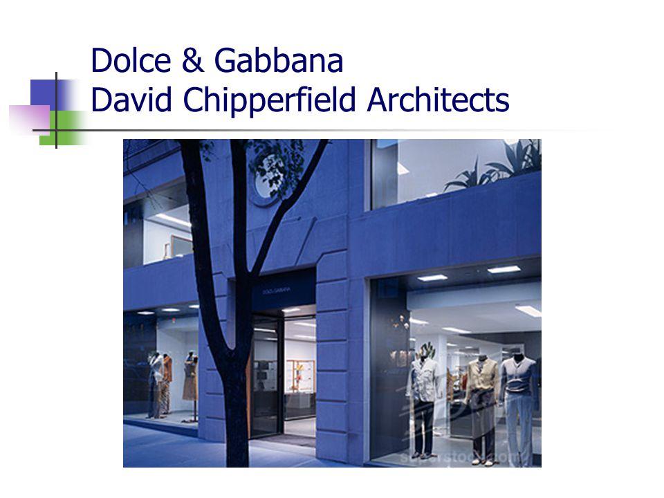 Charakteristika aktuálně spíše rozmanitější koncepce – podtrhnout místní specifika Prada – NY, Tokio, LA > Herzog & de Meuron a Remo Koolhaas Comme de Garçons – antidesign Londýn, Dover St.