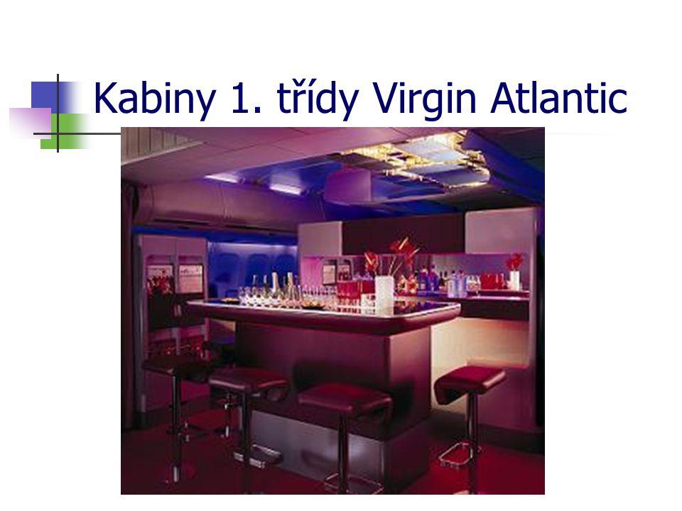 Kabiny 1. třídy Virgin Atlantic