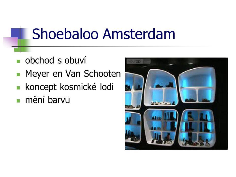 Shoebaloo Amsterdam obchod s obuví Meyer en Van Schooten koncept kosmické lodi mění barvu