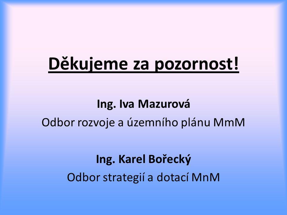 Děkujeme za pozornost.Ing. Iva Mazurová Odbor rozvoje a územního plánu MmM Ing.