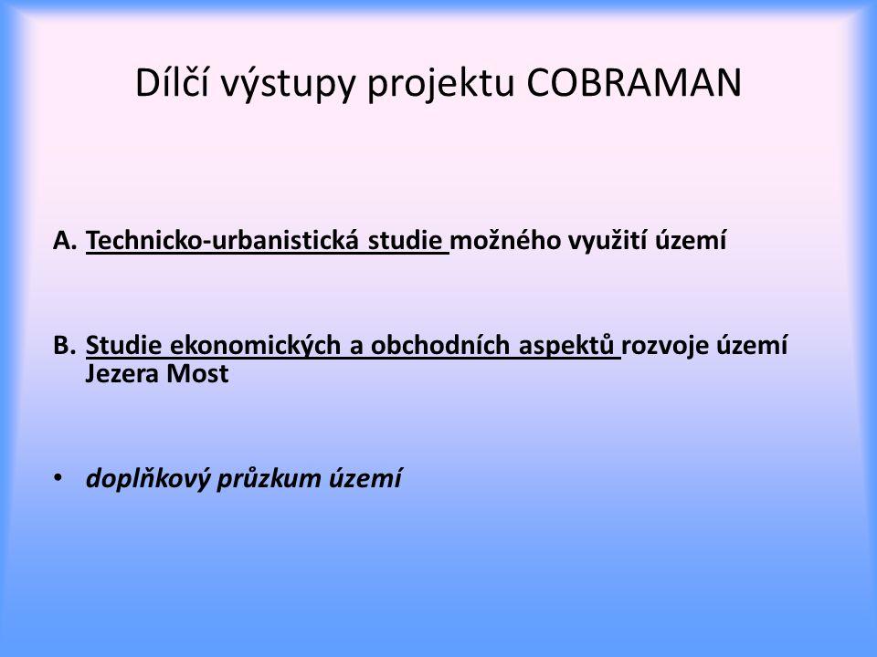 Dílčí výstupy projektu COBRAMAN A.Technicko-urbanistická studie možného využití území B.Studie ekonomických a obchodních aspektů rozvoje území Jezera Most doplňkový průzkum území