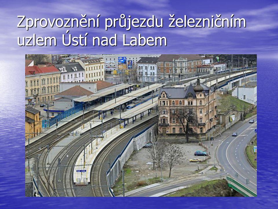 Zprovoznění průjezdu železničním uzlem Ústí nad Labem