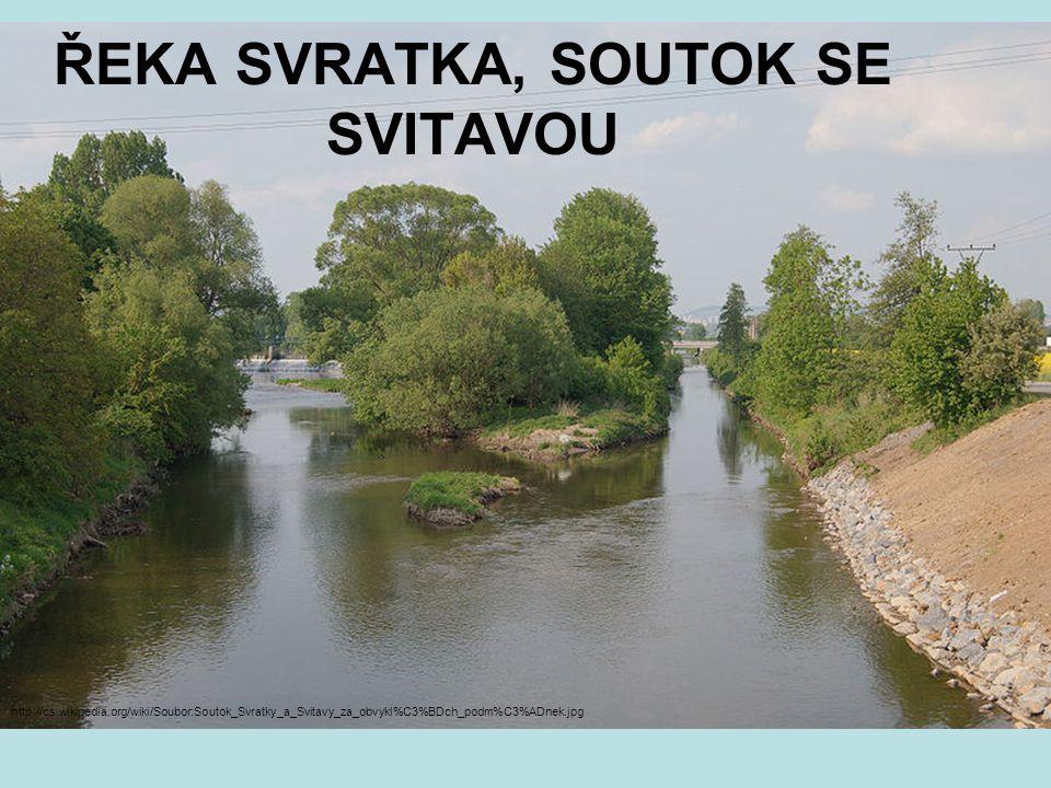 ŘEKA SVRATKA, SOUTOK SE SVITAVOU http://cs.wikipedia.org/wiki/Soubor:Soutok_Svratky_a_Svitavy_za_obvykl%C3%BDch_podm%C3%ADnek.jpg