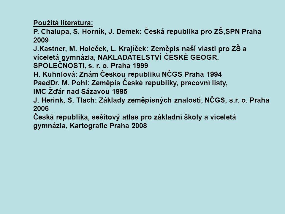 Použitá literatura: P. Chalupa, S. Horník, J.