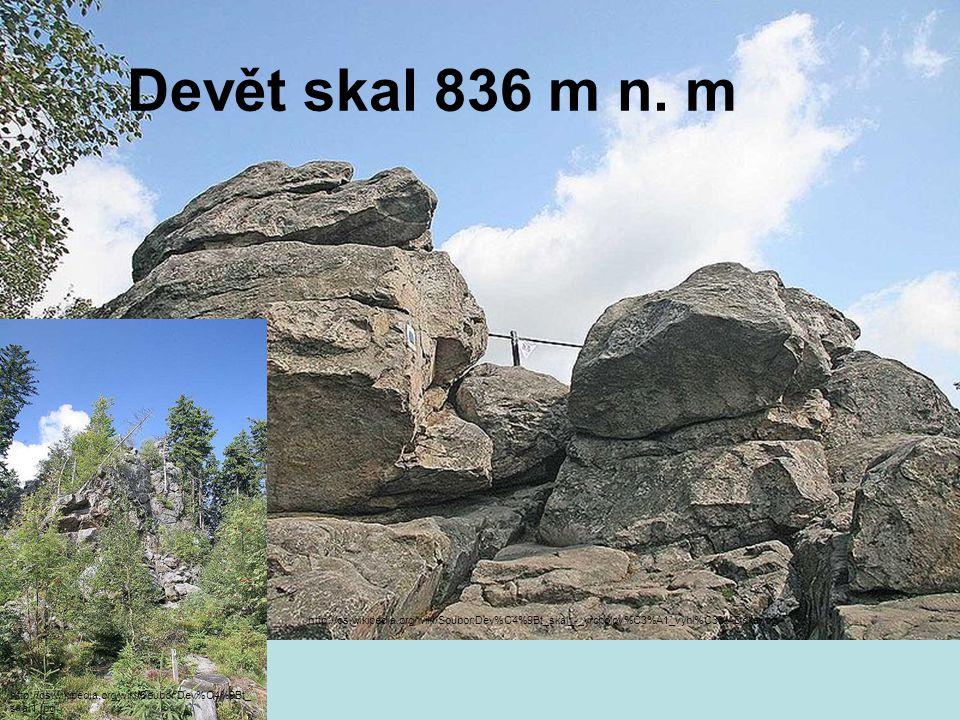 Devět skal 836 m n.