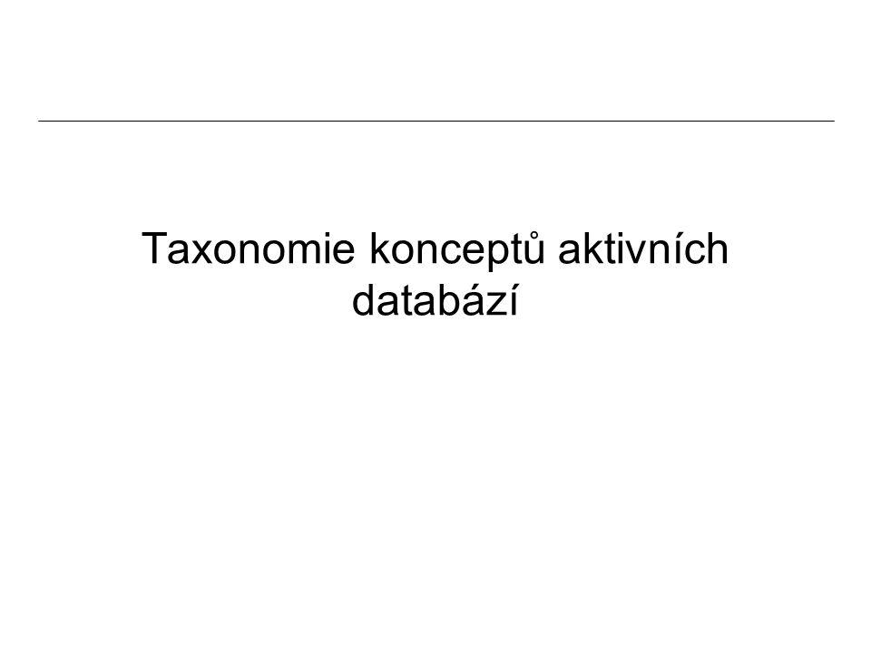 Taxonomie konceptů aktivních databází