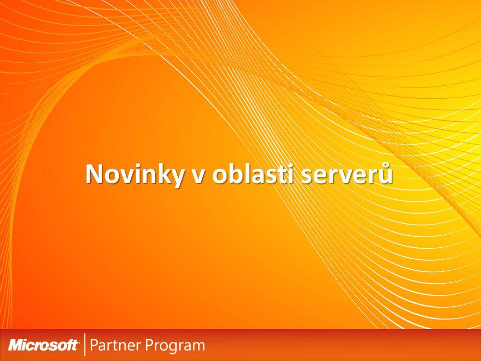Podpora OEM výrobců Největší OEM výrobci již podporují EBS 2008 Největší OEM výrobci již podporují EBS 2008 Windows Essential Business Server je ideální pro nejnovější hardware designovaný pro střední společnosti Windows Essential Business Server je ideální pro nejnovější hardware designovaný pro střední společnosti