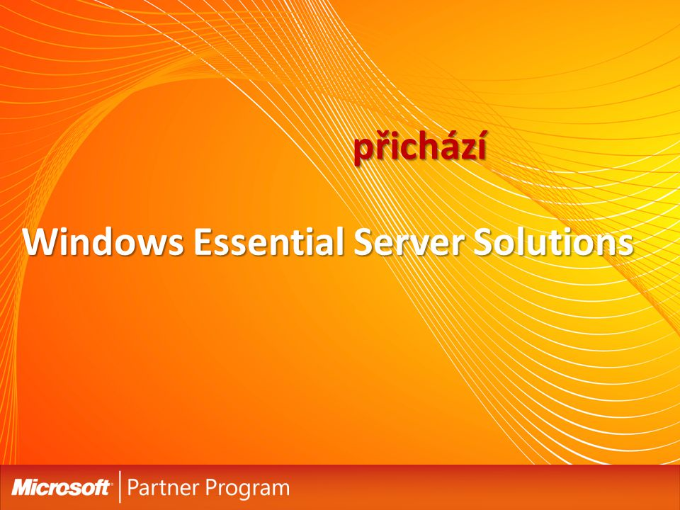 přichází Windows Essential Server Solutions