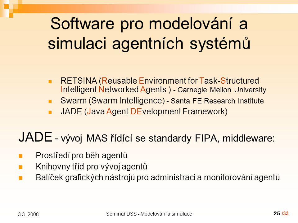Seminář DSS - Modelování a simulace25 3.3.