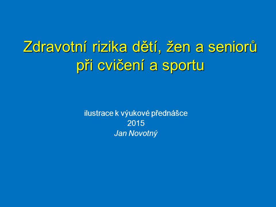 ilustrace k výukové přednášce 2015 Jan Novotný Zdravotní rizika dětí, žen a seniorů při cvičení a sportu