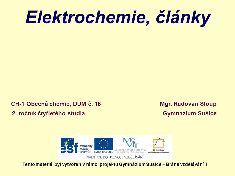 Elektrochemie, články Mgr.