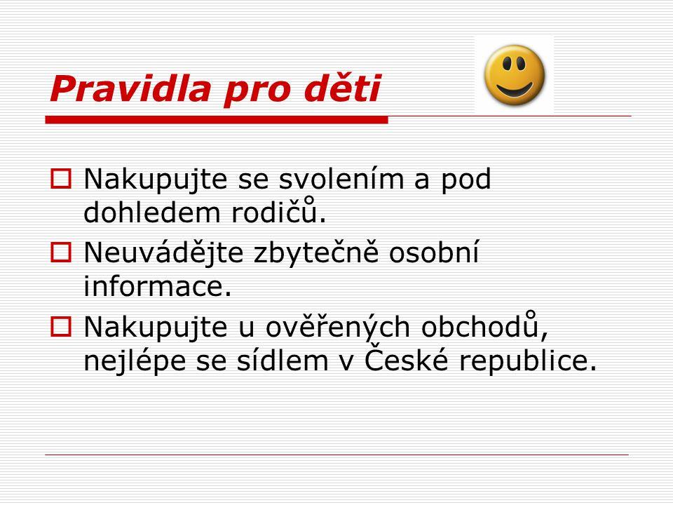 Nabídka na internetu  Možnost specializovaných vyhledávačů, srovnání cen a spokojenosti zákazníků  www.zbozi.cz www.zbozi.cz  www.jyxo.czwww.jyxo.cz  www.obchody.heureka.cz www.obchody.heureka.cz